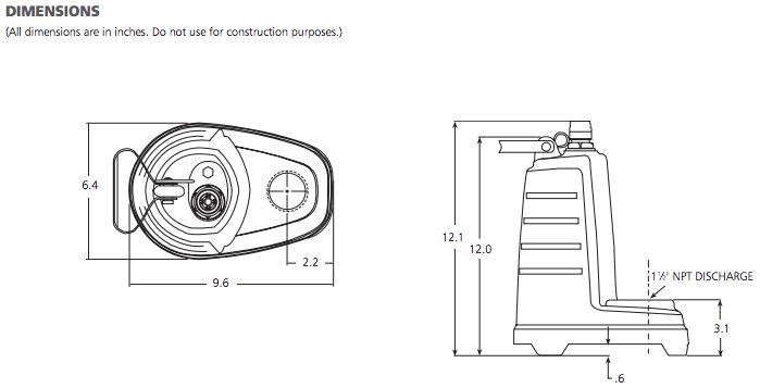 submersible effluent pump - 1ec