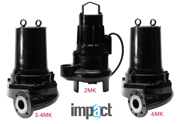 Submersible Self Cleaning Sewage Pump – Impact 2MK, 3MK, 4MK, 6MK