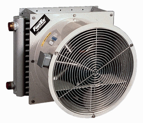 FanEx – plate fin core with fan air-cooled heat exchanger (air/oil)
