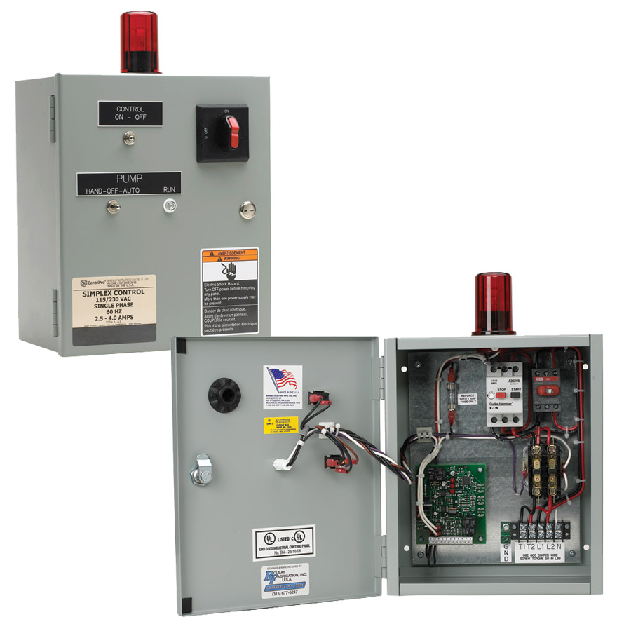 Indoor/Outdoor (without capacitors) Disconnect Panel: Simplex/Duplex Wastewater Disconnect Style Panels
