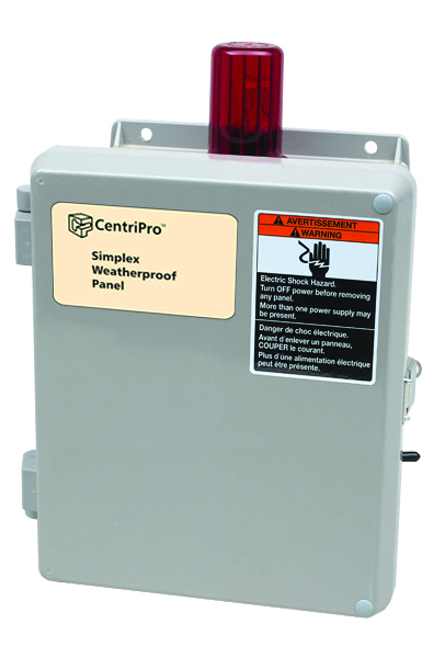 Outdoor (without capacitors) 115 volt, 15 amp with Elapsed Time Meters: Simplex Weatherproof Panels