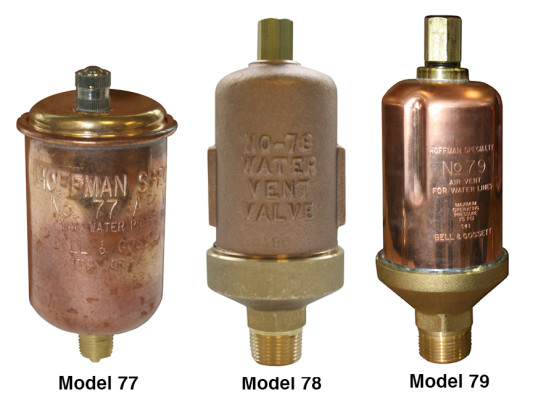 Water Vents Model 77, 78, 79