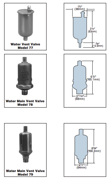 Water Vents Model 77 78 79 Xylem Applied Water Systems