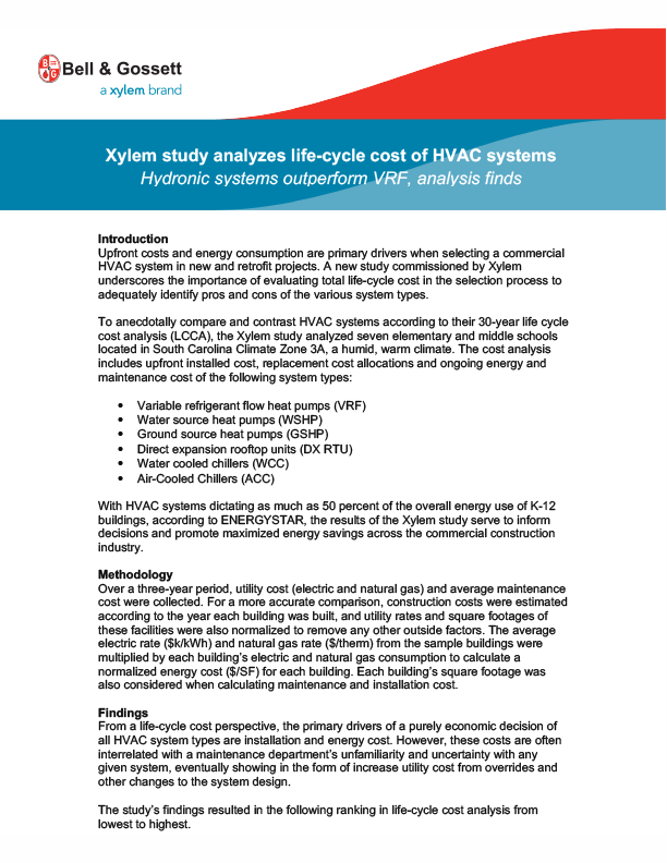 Bell & Gossett White Papers - Xylem Applied Water Systems