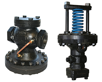 two pressure reducing valves prvs in series two step pressure reduction. Black Bedroom Furniture Sets. Home Design Ideas