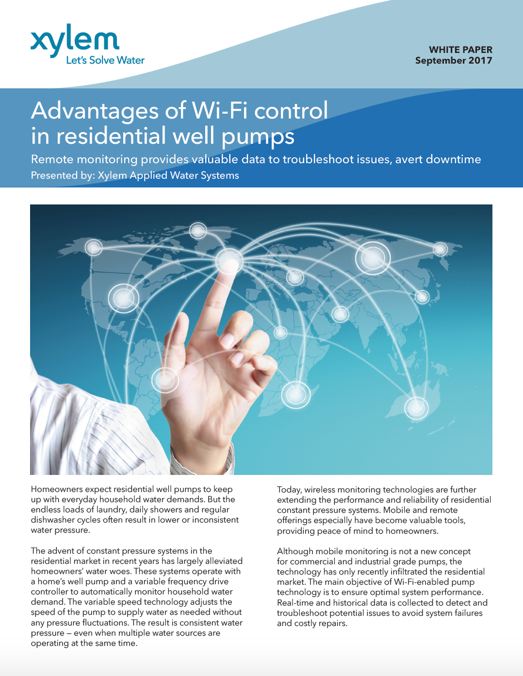 Advantages of Wi-Fi control in residential well pumps