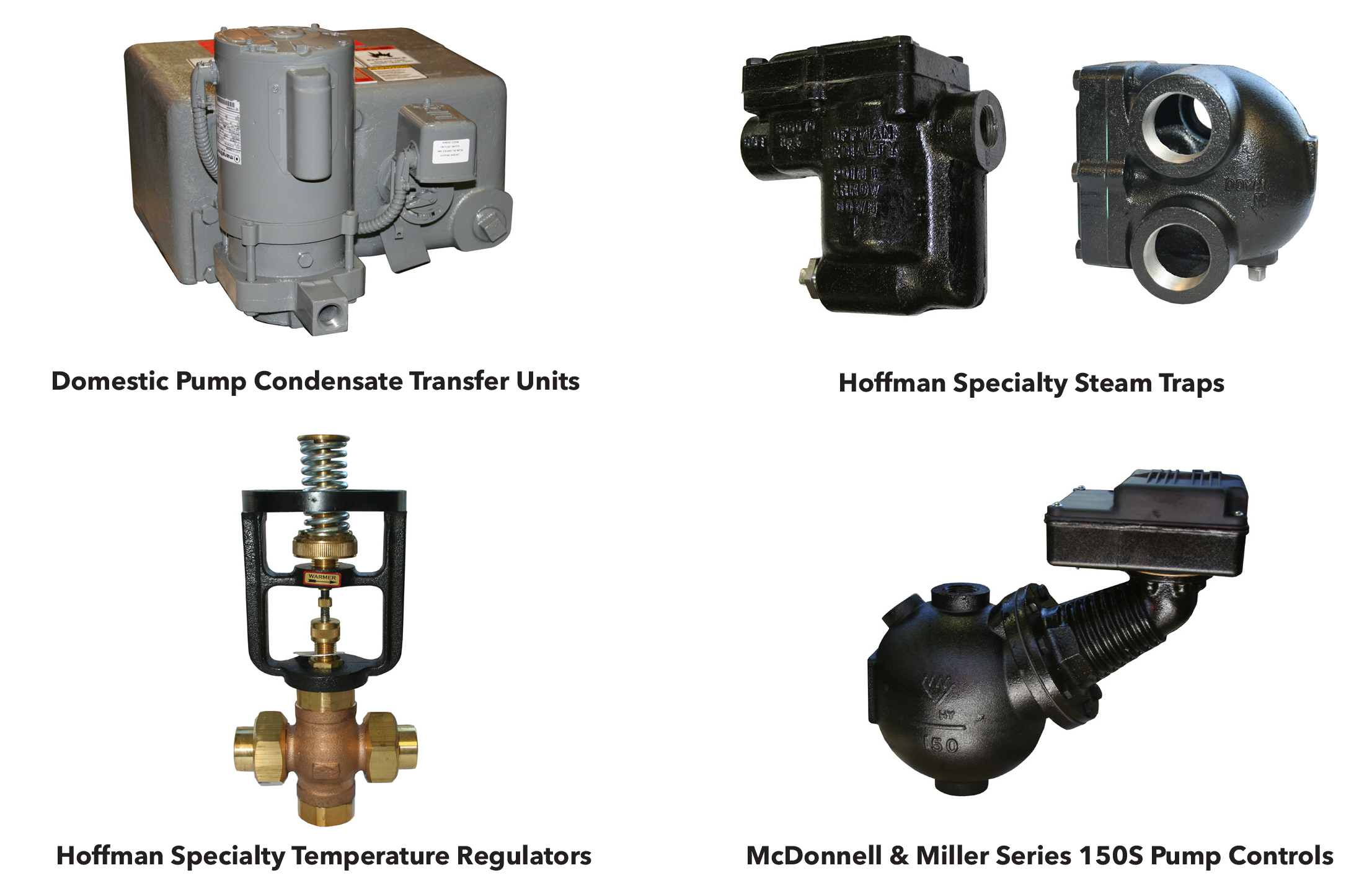 Bell & Gossett Domestic Pump, Hoffman Specialty and McDonnell & Miller