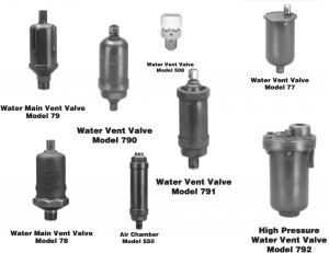 Water Vent Valves
