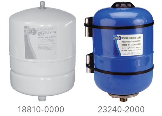 Larger Pressurized Accumulator Tanks