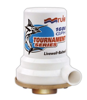 Tournament Series, Bronze Base, 1600 GPH Livewell Pump